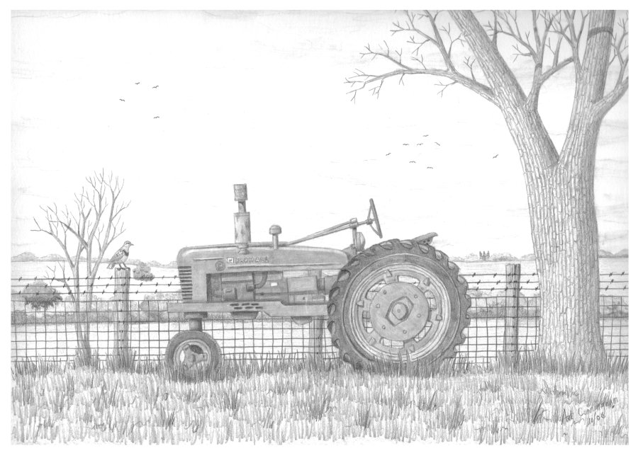 Line Drawing Tractor : Art s sketchbook the drawings and paintings of